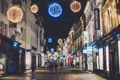 Οδός Χριστουγέννων της Γάνδης στο Βέλγιο Στοκ φωτογραφία με δικαίωμα ελεύθερης χρήσης