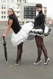 οδός ballerinas Στοκ Φωτογραφίες