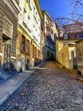 Οδός Braci Trzech σε Cieszyn στην Πολωνία στοκ εικόνες με δικαίωμα ελεύθερης χρήσης