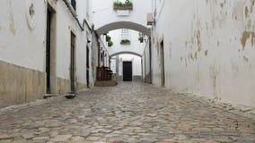Οδός Cobbled στην παλαιά πόλη Faro, Αλγκάρβε Πορτογαλία στοκ φωτογραφία με δικαίωμα ελεύθερης χρήσης