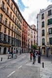 Οδός Cuchilleros κοντά στο δήμαρχο Plaza της Μαδρίτης Στοκ Φωτογραφία