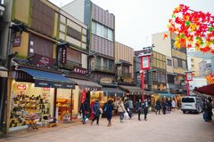 Οδός Dori Dempoin σε Asakusa Στοκ Φωτογραφίες