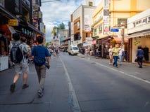 Οδός Insadong - ο κεντρικός δρόμος της περιοχής Insadong την 1η Σεπτεμβρίου, Στοκ Εικόνα