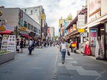 Οδός Insadong - ο κεντρικός δρόμος της περιοχής Insadong την 1η Σεπτεμβρίου, Στοκ Εικόνες
