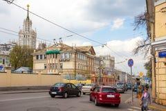 Οδός Radishchevskaya Verhniaya στην ημέρα άνοιξη, Ρωσία, Μόσχα στοκ φωτογραφίες με δικαίωμα ελεύθερης χρήσης