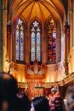 Οδός SF Καλιφόρνιας καθεδρικών ναών της Grace Στοκ εικόνα με δικαίωμα ελεύθερης χρήσης