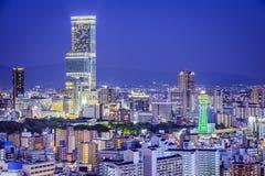 Οζάκα, εικονική παράσταση πόλης της Ιαπωνίας Στοκ Φωτογραφία