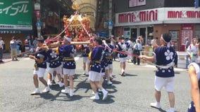 Οζάκα, Ιαπωνία - φεστιβάλ Tenjin Matsuri απόθεμα βίντεο