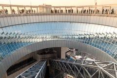 ΟΖΑΚΑ, ΙΑΠΩΝΙΑ - 19 ΜΑΡΤΊΟΥ 2017: Το κτήριο ουρανού Umeda είναι ουρανοξύστης Στοκ φωτογραφία με δικαίωμα ελεύθερης χρήσης