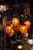 Οθωμανικοί λαμπτήρες μωσαϊκών από μεγάλο Bazaar Στοκ Φωτογραφία