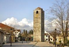 Οθωμανικός πύργος ρολογιών σε Podgorica Στοκ Εικόνες