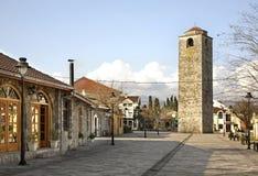 Οθωμανικός πύργος ρολογιών σε Podgorica Στοκ φωτογραφία με δικαίωμα ελεύθερης χρήσης