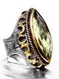 οθωμανικό ασήμι δαχτυλι&de Στοκ Εικόνες