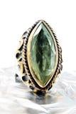 Οθωμανικό ασημένιο δαχτυλίδι. Στοκ Φωτογραφία