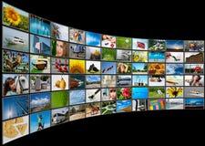 οθόνες επιτροπής πολυμέ&sig Στοκ Φωτογραφίες