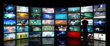 Οθόνες μέσων στοκ εικόνες