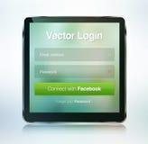Οθόνη ασφάλειας κωδικού πρόσβασης σύνδεσης ιστοσελίδας Στοκ εικόνα με δικαίωμα ελεύθερης χρήσης