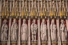 Οθόνη βασιλιάδων στο μοναστηριακό ναό της Υόρκης Στοκ εικόνα με δικαίωμα ελεύθερης χρήσης