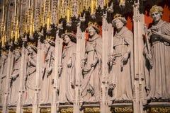 Οθόνη βασιλιάδων στο μοναστηριακό ναό της Υόρκης Στοκ φωτογραφία με δικαίωμα ελεύθερης χρήσης
