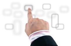 οθόνη επαφής διαπροσωπε&io Στοκ εικόνες με δικαίωμα ελεύθερης χρήσης