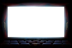 Οθόνη θεάτρων κινηματογράφων Στοκ εικόνα με δικαίωμα ελεύθερης χρήσης