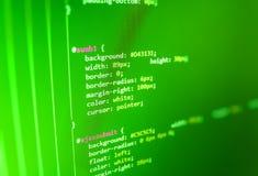 Οθόνη κωδικού πηγής κωδικοποίησης προγραμματισμού Στοκ Εικόνες