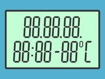 Οθόνη με τα κυρτά ψηφία απεικόνιση αποθεμάτων