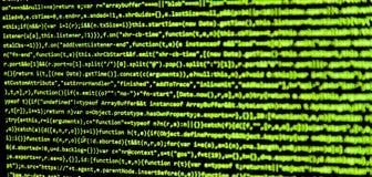 Οθόνη με τον κώδικα προγραμματιστή λογισμικού Στοκ Εικόνες