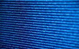 Οθόνη με τον κώδικα προγραμματιστή λογισμικού Στοκ εικόνες με δικαίωμα ελεύθερης χρήσης