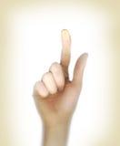 οθόνη πίεσης χεριών εστίασ& Στοκ Εικόνες