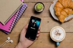 Οθόνη που πυροβολείται της εφαρμογής μουσικής της Apple Στοκ Εικόνες