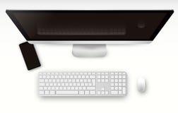 Οθόνη υπολογιστή, διανυσματική απεικόνιση smartphone Για να παρουσιάσει την αίτησή σας Στοκ Φωτογραφία