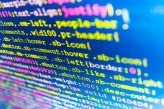 Οθόνη χώρου εργασίας προγραμματιστή λογισμικού Στοκ φωτογραφίες με δικαίωμα ελεύθερης χρήσης