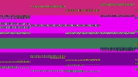 Οθόνη TV δυσλειτουργίας Πορφυρή ανασκόπηση Στοκ Εικόνες