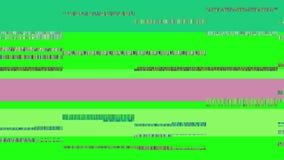 Οθόνη TV δυσλειτουργίας Πράσινη ανασκόπηση Στοκ εικόνα με δικαίωμα ελεύθερης χρήσης