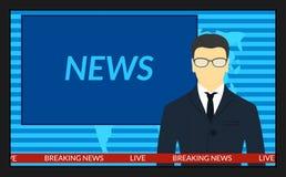 Οθόνη TV με τα έκτακτα γεγονότα Στοκ φωτογραφία με δικαίωμα ελεύθερης χρήσης