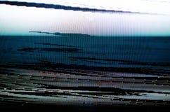 Οθόνη TV δυσλειτουργίας Στοκ Φωτογραφίες
