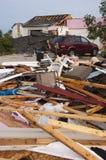 'Οικία' σπιτιών ζημίας θύελλας ανεμοστροβίλου που καταστρέφεται από τον αέρα Στοκ Εικόνα