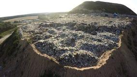 Οικιακά απόβλητα απορρίψεων πόλεων εναέριο strandja φωτογραφίας βουνών της Βουλγαρίας Απόρριψη πόλεων Στοκ εικόνα με δικαίωμα ελεύθερης χρήσης