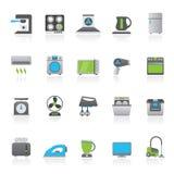 Οικιακές συσκευές και εικονίδια ηλεκτρονικής Στοκ φωτογραφίες με δικαίωμα ελεύθερης χρήσης