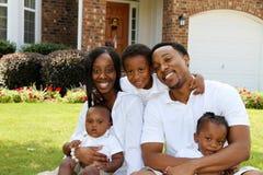 Οικογένεια αφροαμερικάνων Στοκ Φωτογραφία