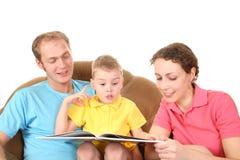 οικογένεια βιβλίων που &d Στοκ Εικόνα