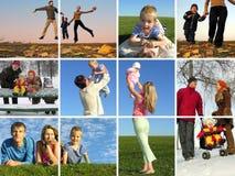 οικογένεια γύρω από το έτος Στοκ εικόνα με δικαίωμα ελεύθερης χρήσης
