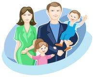 οικογένεια δύο παιδιών ελεύθερη απεικόνιση δικαιώματος