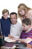 οικογένεια εκπαίδευση στοκ φωτογραφίες