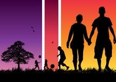 οικογένεια ευτυχής διανυσματική απεικόνιση