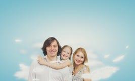 οικογένεια ευτυχής Στοκ Εικόνες