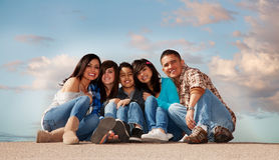 οικογένεια ισπανική στοκ φωτογραφίες