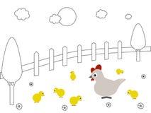 Οικογένεια κοτόπουλου Στοκ Φωτογραφία