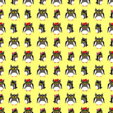 Οικογένεια κουκουβαγιών με το κίτρινο σκηνικό Στοκ φωτογραφία με δικαίωμα ελεύθερης χρήσης